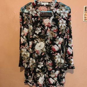 Sweaters - Blouse floral kimono button up forever 21 H&M